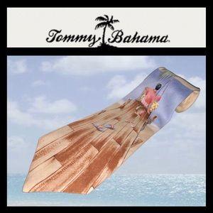 Rare Tommy Bahama silk tie EUC